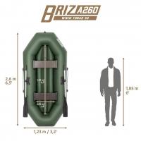 Лодка Бриз А260 (надувное дно) Briz 260A Тонар_12