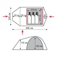 Палатка Tramp-Lite Twister 3 (1/4)_1