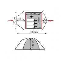 Палатка Lite Camp 3 (1/4) Tramp_1