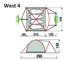Палатка West 4  GreenLand_1