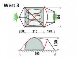 Палатка West 3  GreenLand_1
