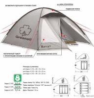 Палатка Kerri 3 V3 (зеленый) Greenell_3