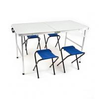 Стол складной 120*60 + 4 табурета Folding Table  КЕДР