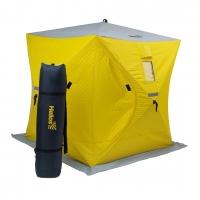 Палатка зимняя утеплённая Куб 1,5х1,5 yellow/gray Helios (HS-ISCI-150YG)
