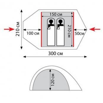 Палатка LAIR 2 (TRT-38) Tramp