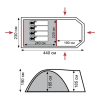 Палатка ANACONDA 4 (TRT-78) Tramp_2