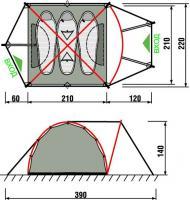 Палатка Pamir 3 Camo  RockLand_1