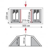 Палатка CASTLE - 4  SOL_1