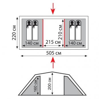 Палатка CASTLE - 4  SOL