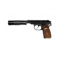 Пистолет пневм. МР-654К-22 с фальшглушителем, обн.ручка