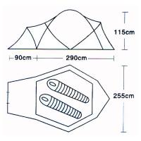 Палатка 2-местная (L-5001) CAMPACK-TENT_1
