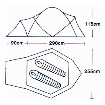 Палатка 2-местная (L-5001) CAMPACK-TENT