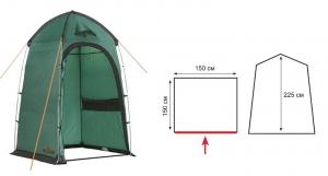 Палатка душ/туалет Privat (v2) зеленый Totem_1