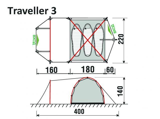 Палатка Traveller 3 GreenLand_2