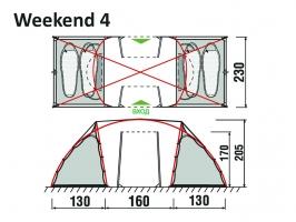 Палатка Weekend 2+2 GreenLand_1