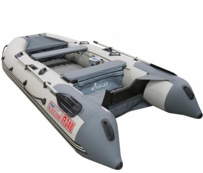 Лодка Алтай А340 LUXE (надувное дно) Тонар