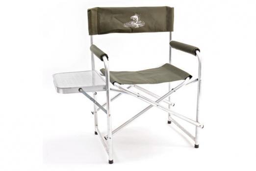 Кресло складное базовый вариант со столиком алюминий AKS-04 КЕДР