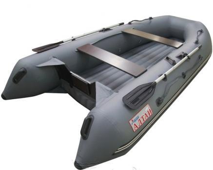 Лодка Алтай А320 LUXE (серый, надувное дно, опц.) Тонар