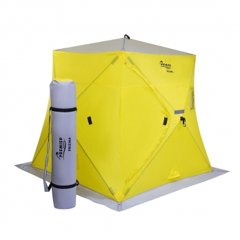 Палатка зимняя ПРИЗМА 2,0х2,0 yellow/gray (PR-ISP-200YG) PREMIER