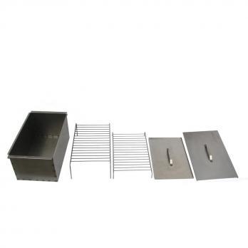 Коптильня двухъярусная 450х280х170 (нерж.сталь 1,0 мм)(К-002N) Тонар