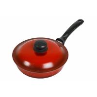 Сковорода с крышкой глубокая (ЭС тpк) Силумин