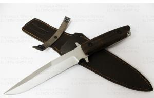 Нож Командор ст.65х13 рукоять ценные породы дерева