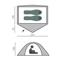 Палатка Bullet 2 быстросборная Зеленый (T0500) BTrace_1