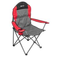 Кресло складное серый/красный/черный (N-244-GRD) NISUS (пр-во ГК Тонар)