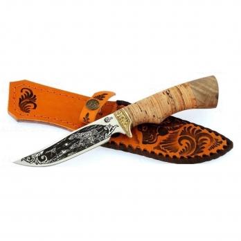 Нож Юнкер ст 65х13 бер,литье,гравировка Семин