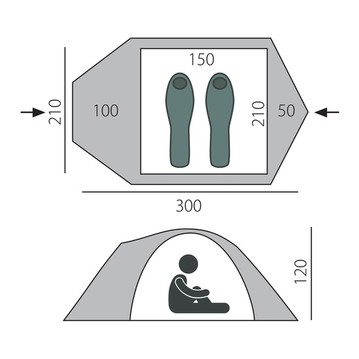 Палатка Chellenge 2 (T0140) BTrace
